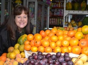 Foto: Theresa en la frutería