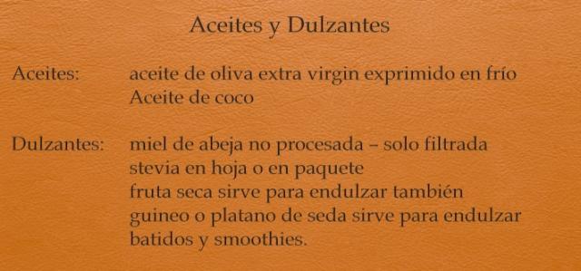 Aceites y Dulzantes