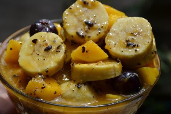 Foto:  Mango con Aderezo de Maracuyá