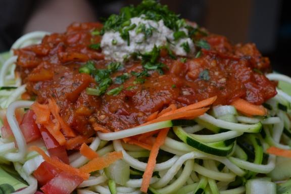 Foto:  Espagueti con Fideo de Zucchini